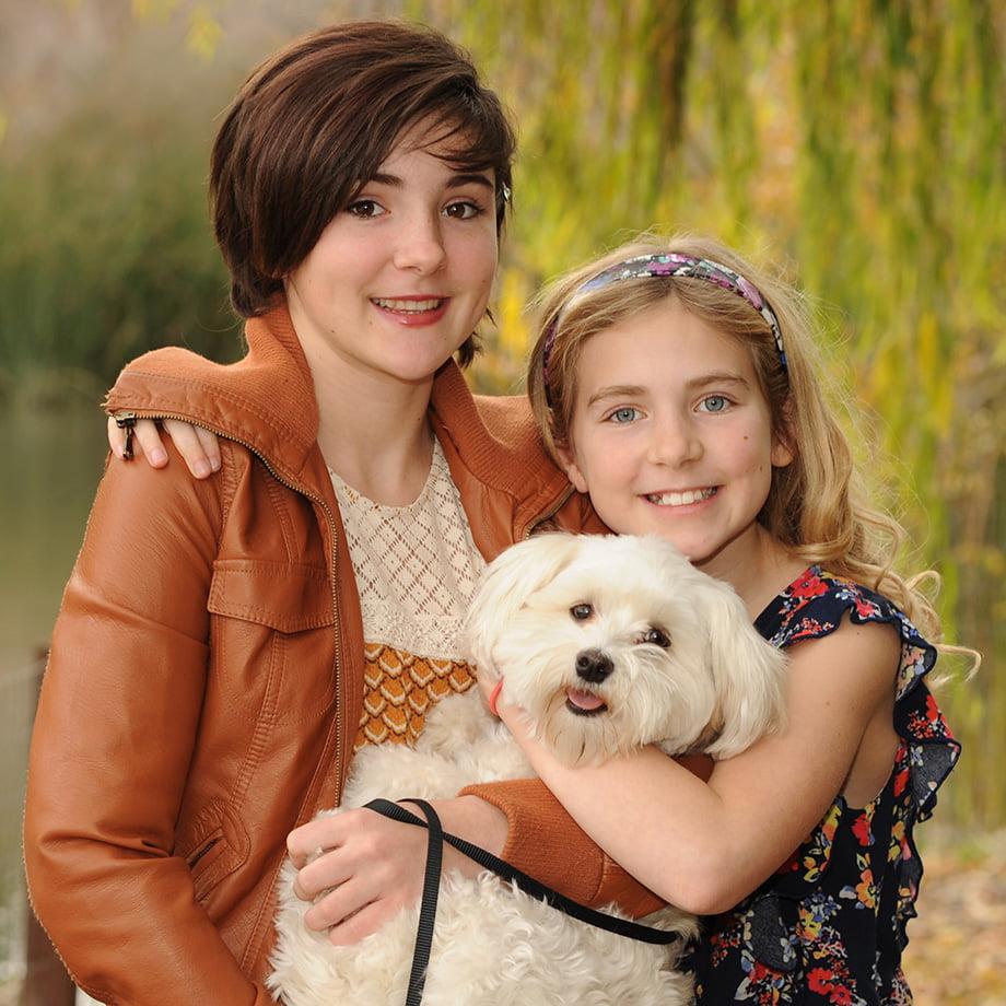 Girls love dogs