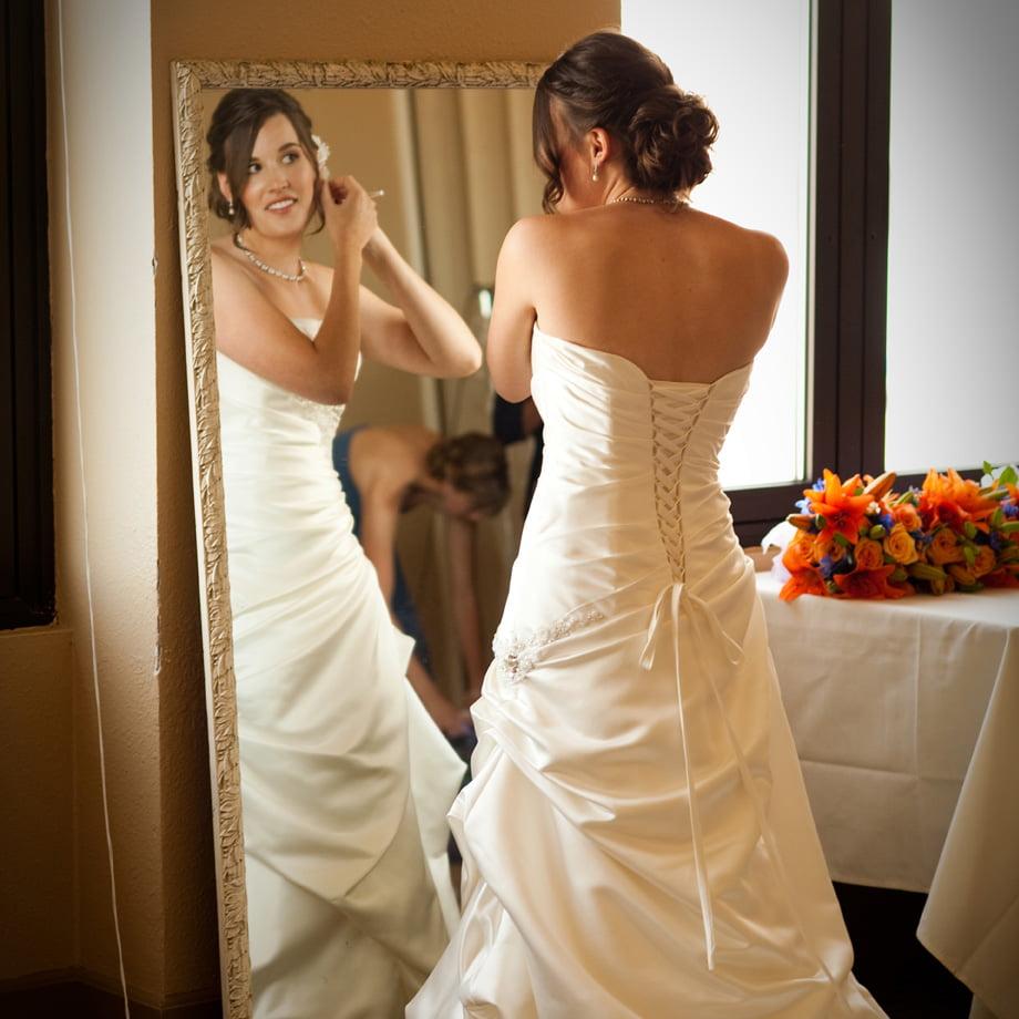 Coconut Grove bride preparing for wedding