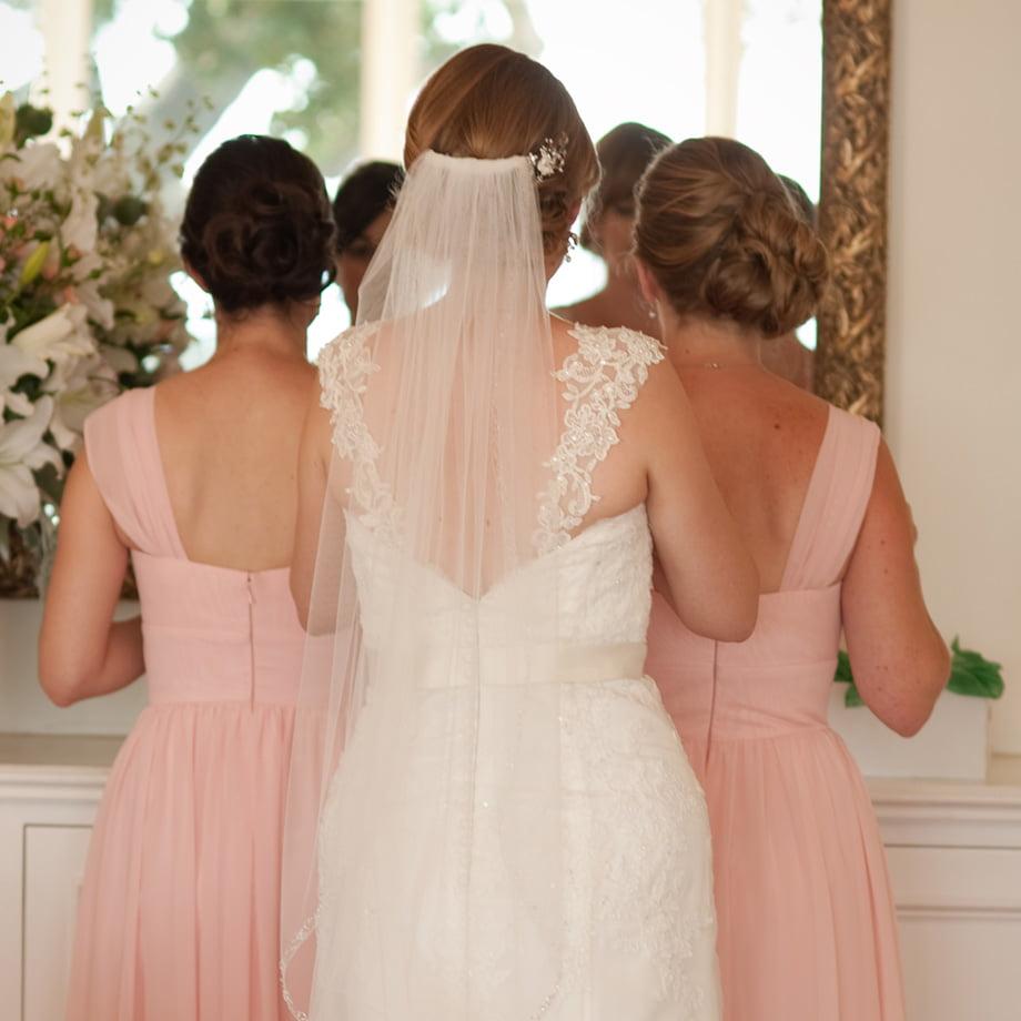 behind the bride