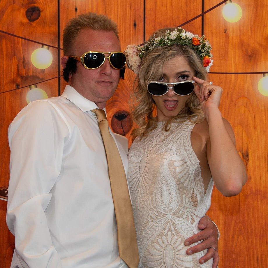 newly weds having fun
